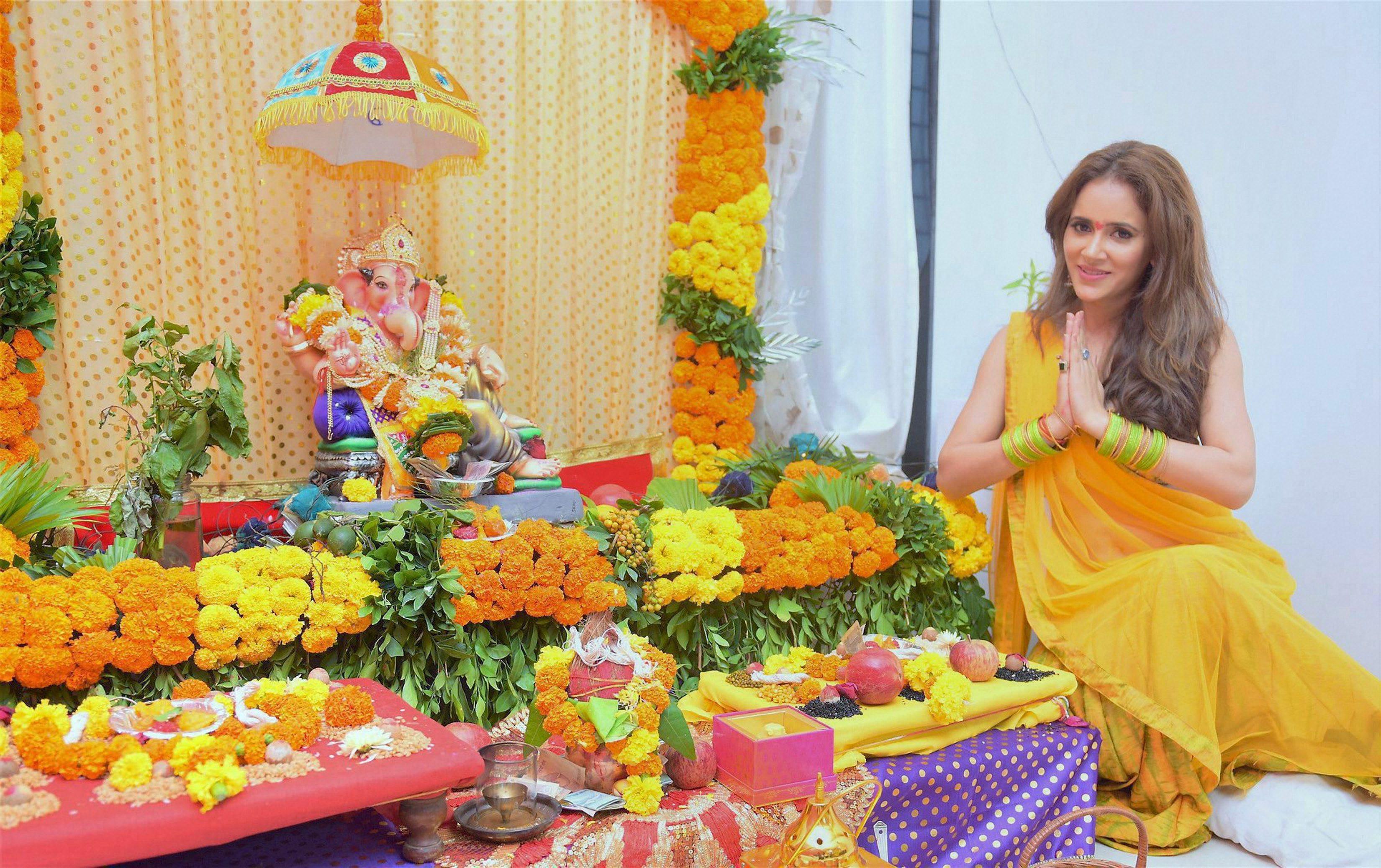 Shweta Khanduri celebrates  Ganesh Chaturthi